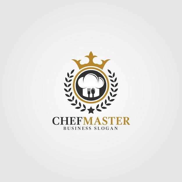 Chef master logo template Premium Vector