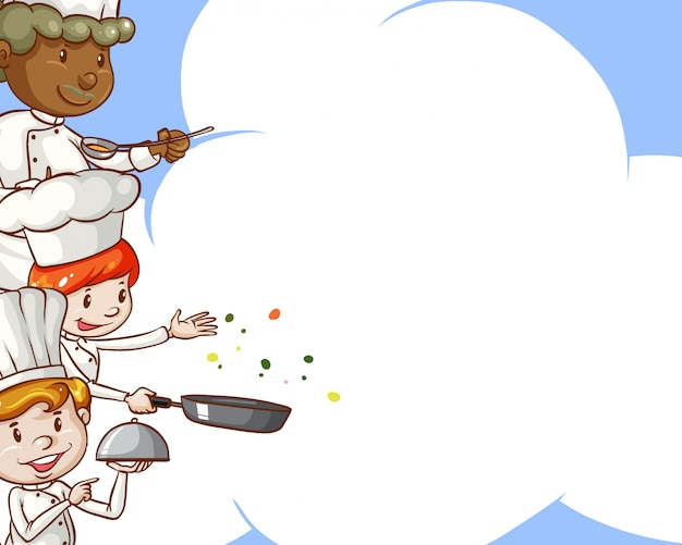 Chefs with copy space Free Vector