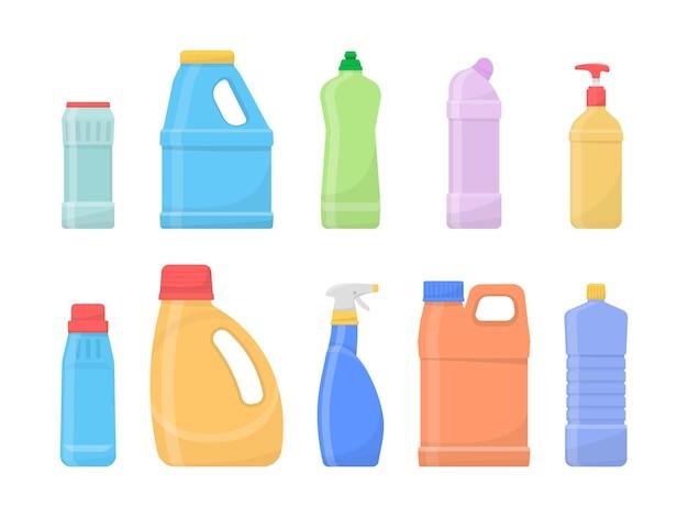 白で分離された化学的にきれいなボトル Premiumベクター