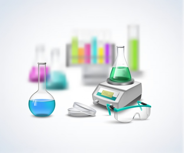 Chemical eqiupment composition Free Vector