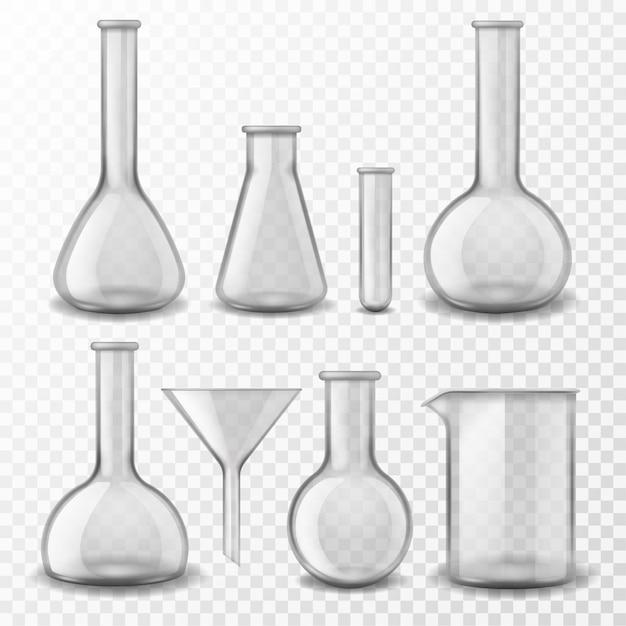 Оборудование для химического стекла. Premium векторы