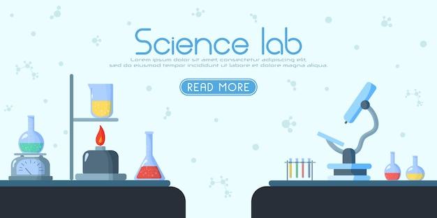 科学技術の化学実験生物学 Premiumベクター