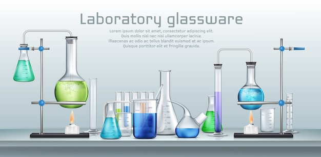 Chemical laboratory experiment Free Vector