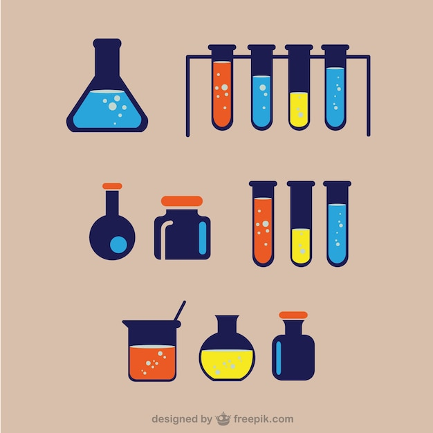Chemical laboratory ware  Free Vector