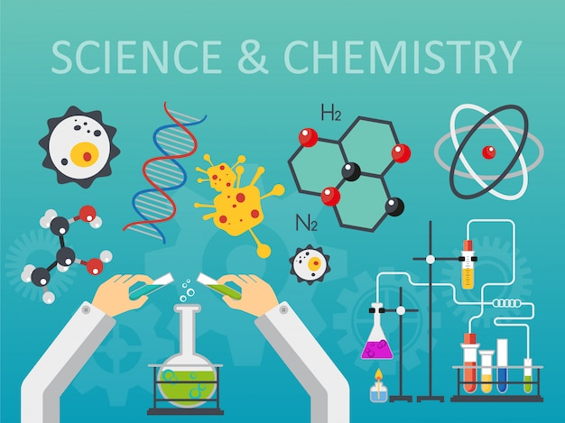 Chemical science laboratory concept Premium Vector
