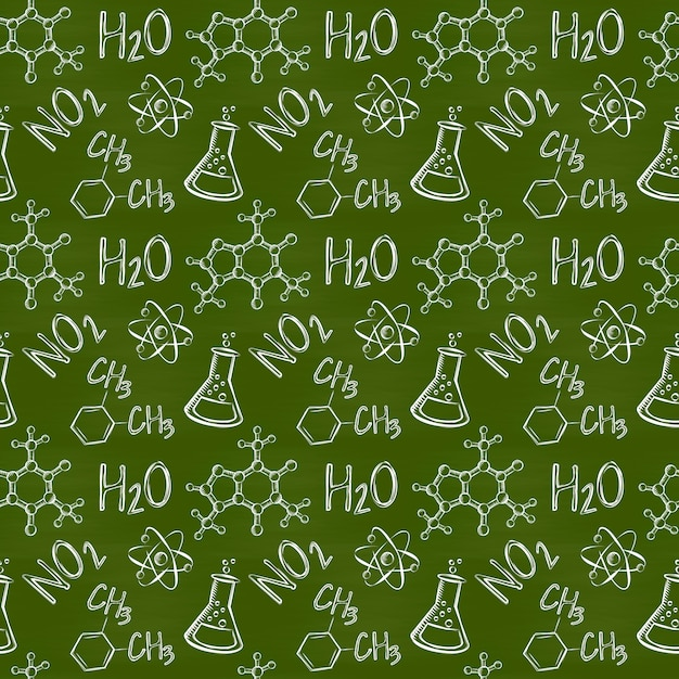 Chemical seamless pattern Premium Vector