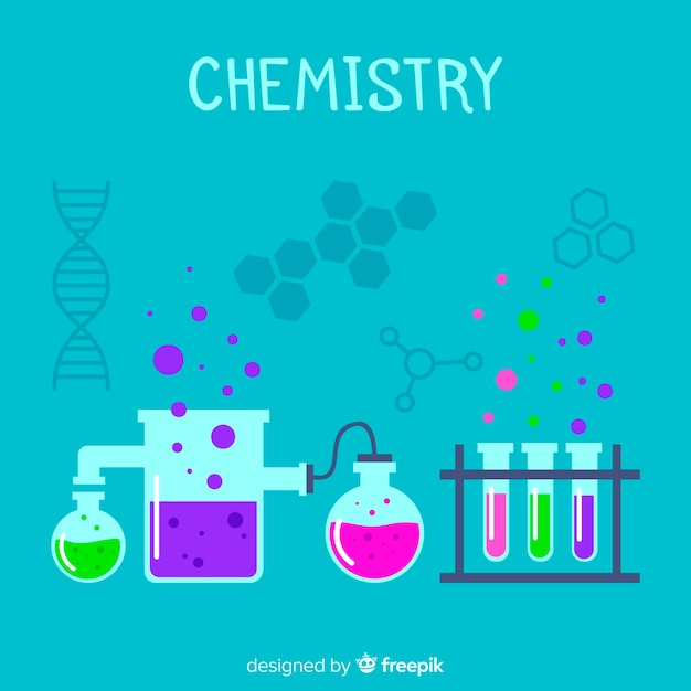 Chemistry background Free Vector