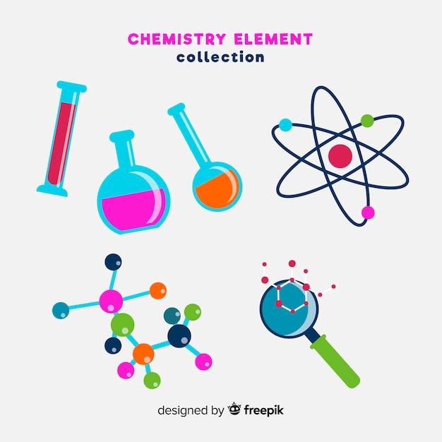 Raccolta di elementi di chimica Vettore gratuito