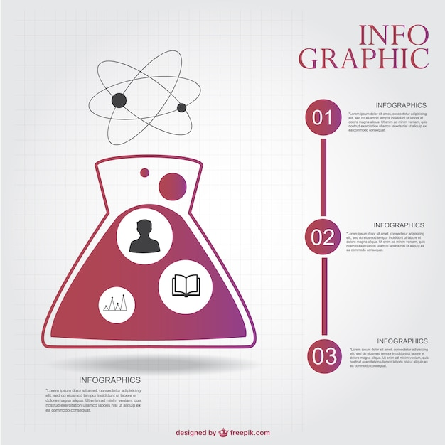 Chemistry infographic layout Vector   Free Download