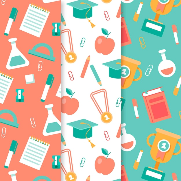 Chemistry objects and books pattern collection Free Vector