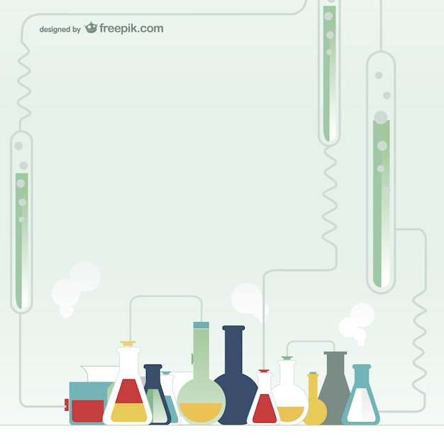 Chemistry test tubes Free Vector