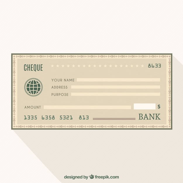 Blank Cheque Vectors Photos And Psd Files  Free Download