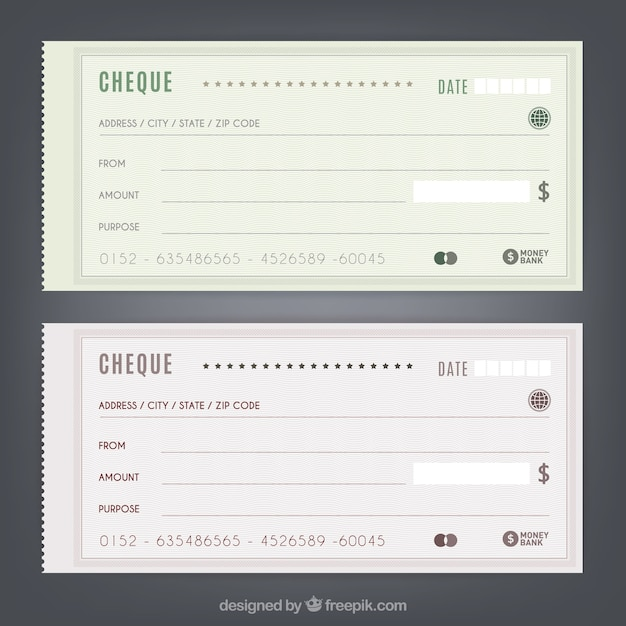 Cheques Free Vector