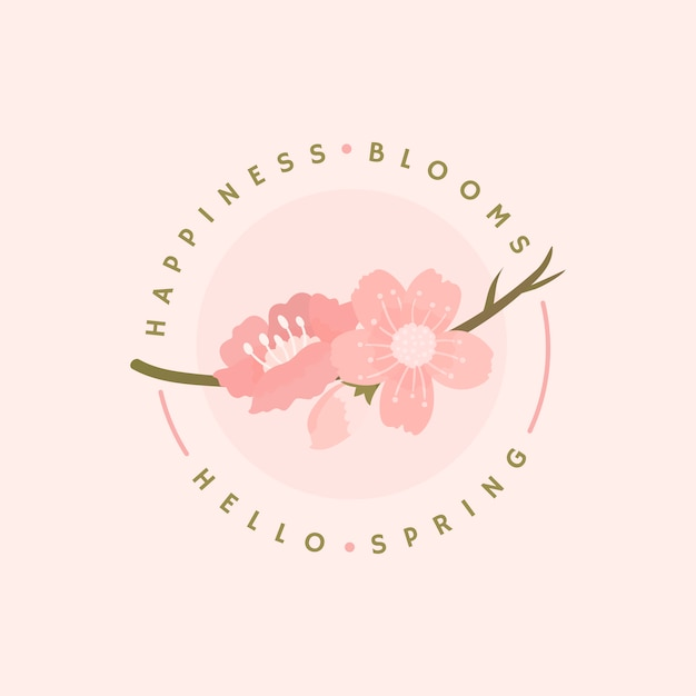 Cherry blossom background illustration Free Vector