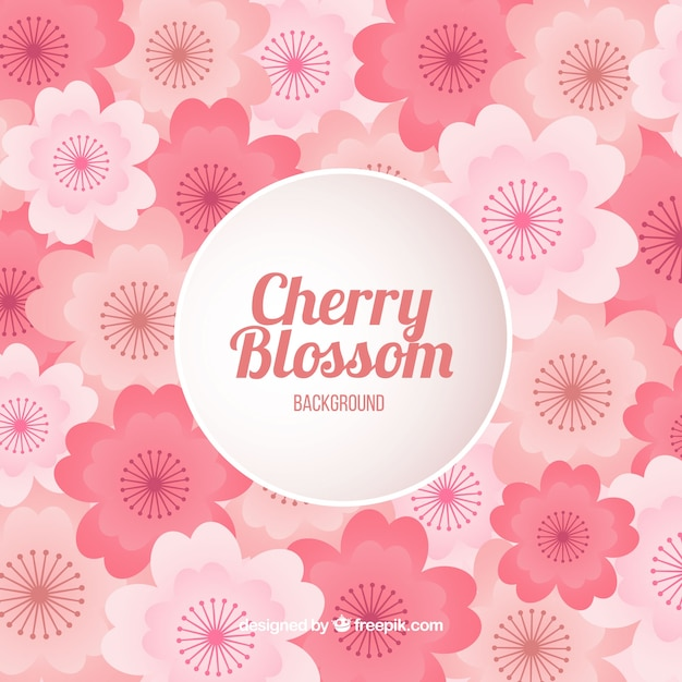Cherry blossom background in gradient\ colour