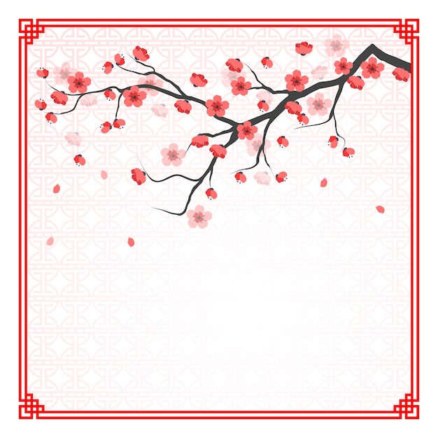 Cherry blossom template Vector | Premium Download