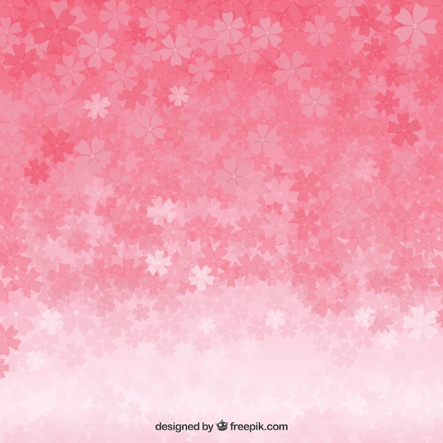 Cherry blossoms background Free Vector