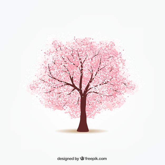 cherry tree vector | free download