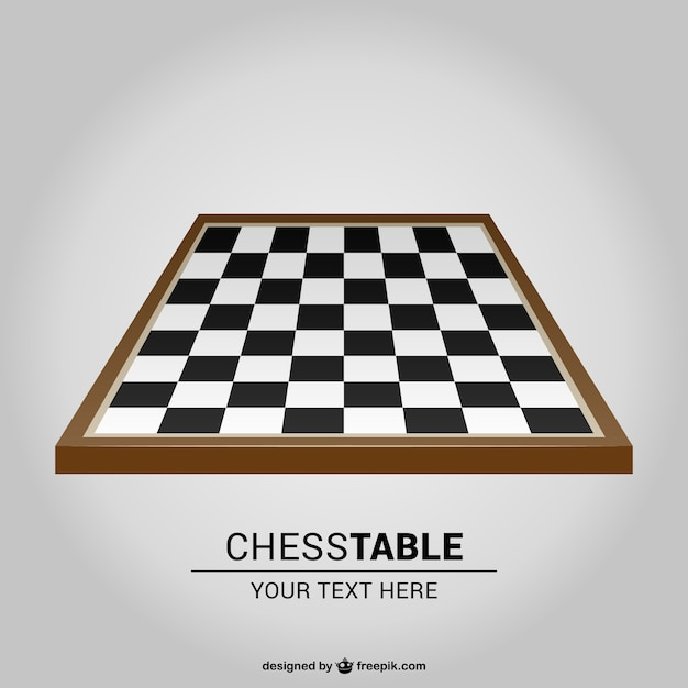 Chess board vector Free Vector