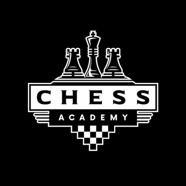Chess classic logo Premium Vector