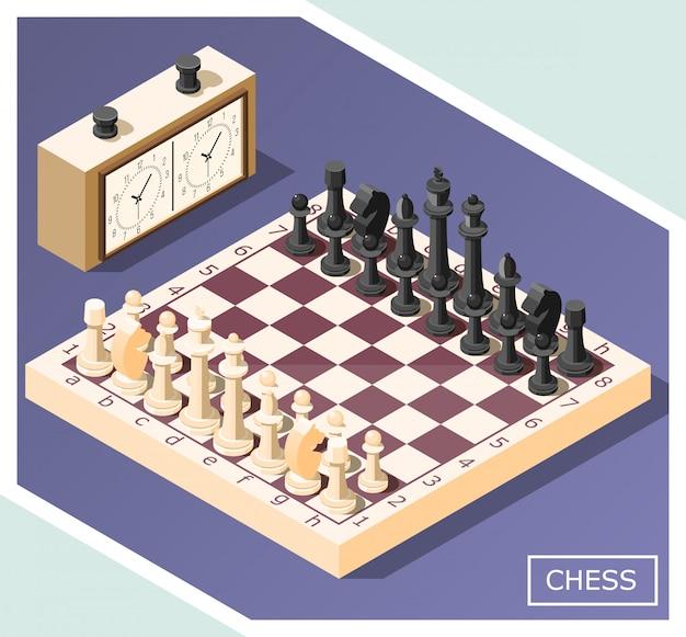Chess isometric Free Vector