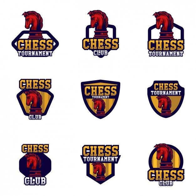 Chess logo templates design