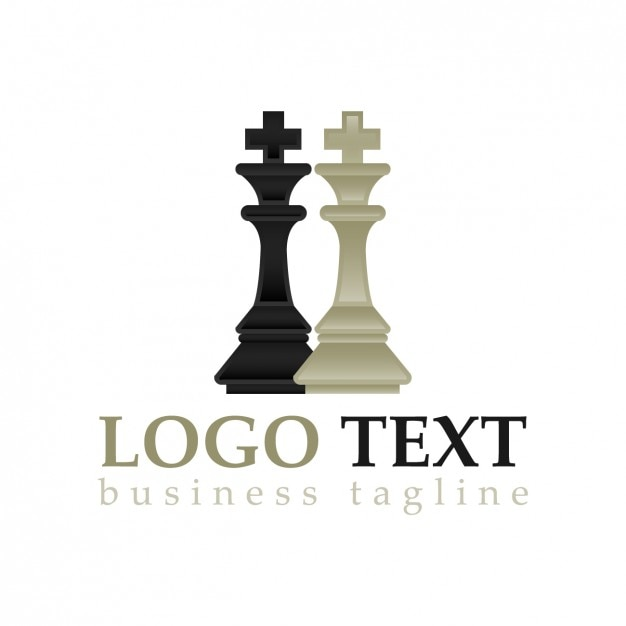 Chess pieces logo Free Vector