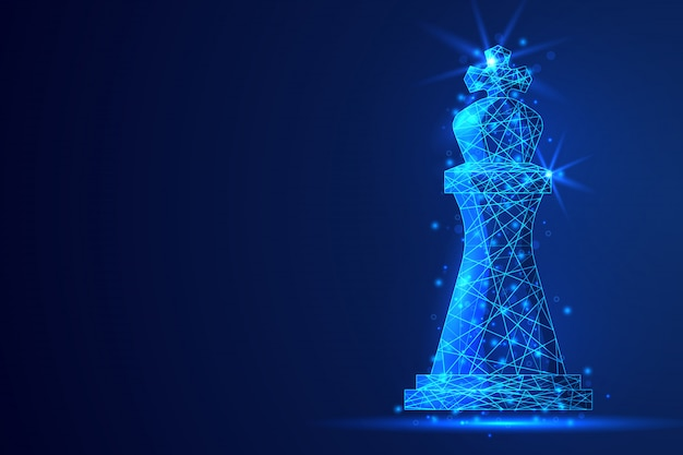 Chess Polygonal Abstract Background.