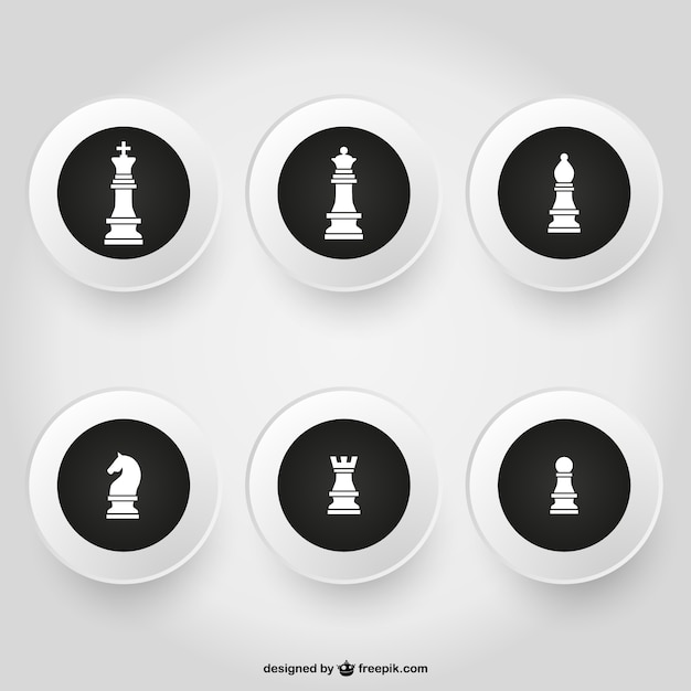 Chessmen pack Free Vector