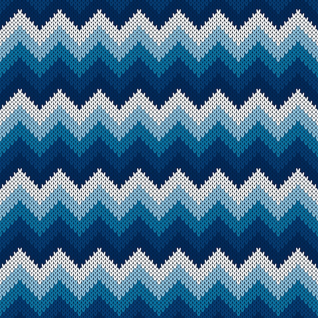 Chevron abstract knitted sweater pattern Premium Vector