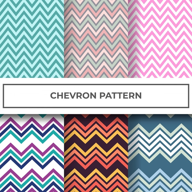 Chevron pattern collection Premium Vector