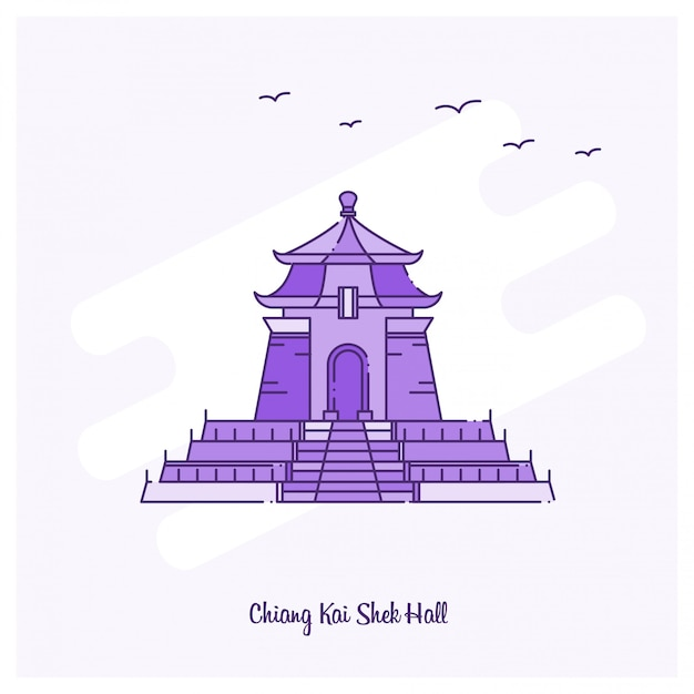 Chiang kai shek hall landmark Free Vector