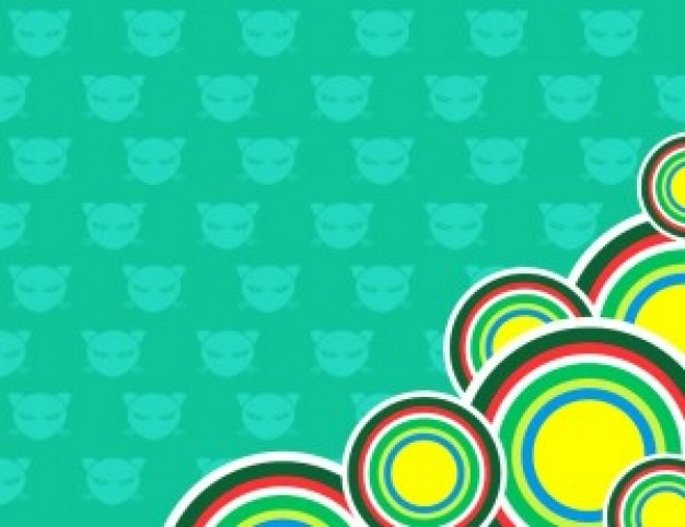 Chibi cat icons twitter background