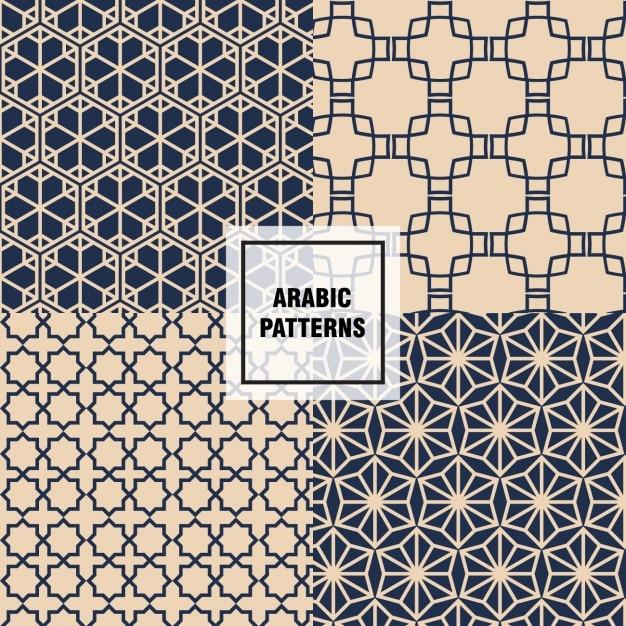 chic arabic patterns  free vector