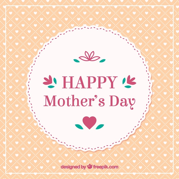 Chic retro happy mothers day card Free Vector