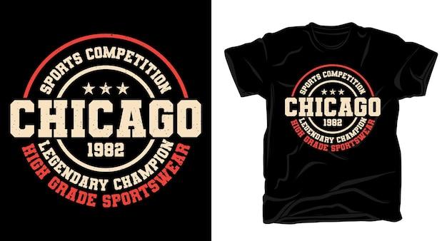 Дизайн футболки легендарного чемпиона чикаго Premium векторы