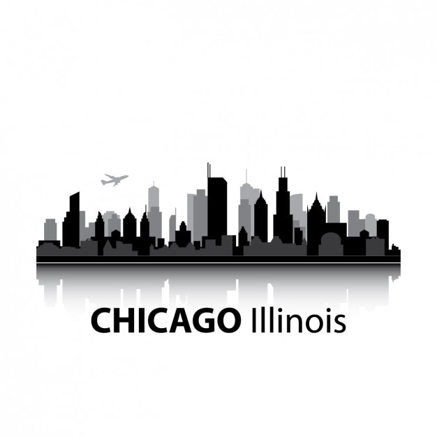 Chicago skyline design vector free download Blueprint designer free
