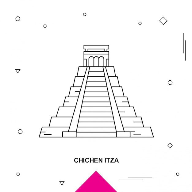 Chichen itza Premium векторы