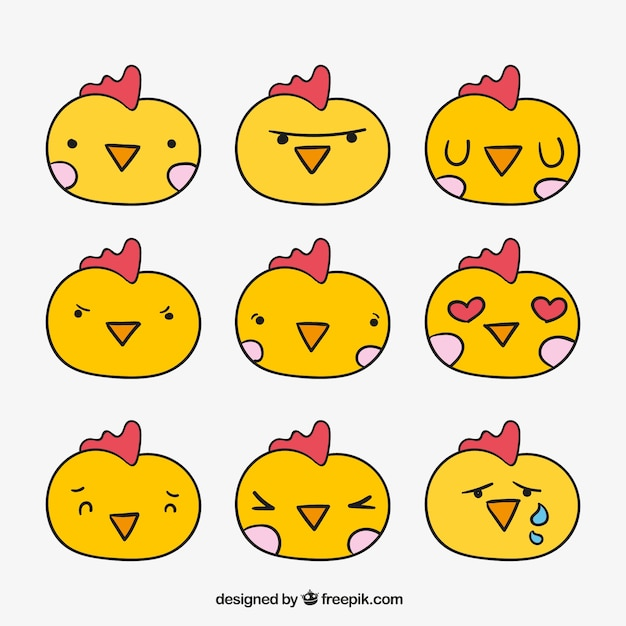 Chick emoticon pack