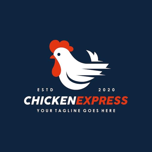 Chicken, cock logo design template Premium Vector