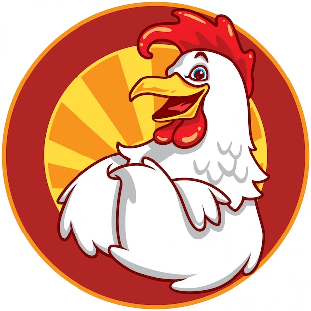 chicken emblem vector premium download rh freepik com chicken vector clip art chicken vector image