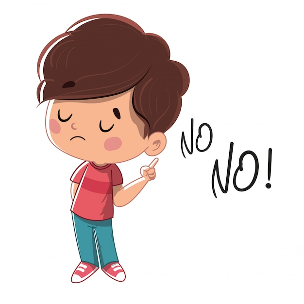 Child saying no Premium Vector