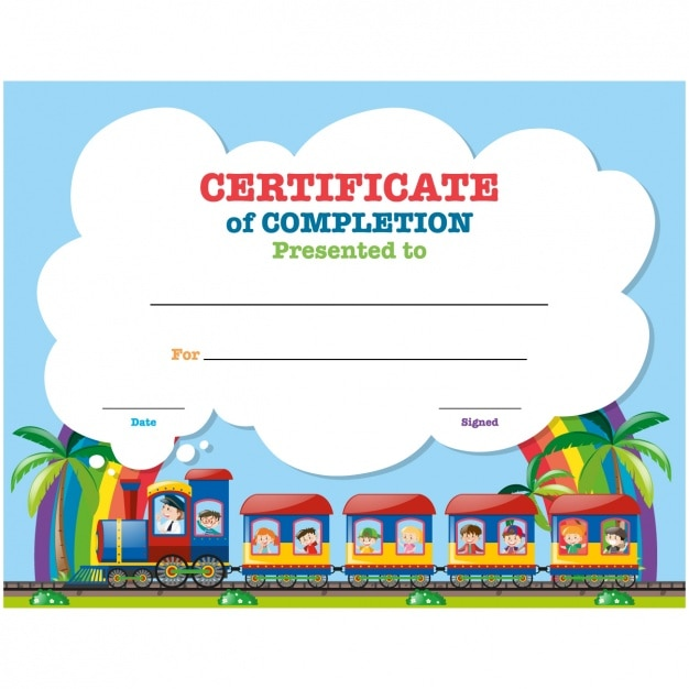 Childish certificate design vector free download childish certificate design free vector yadclub Gallery