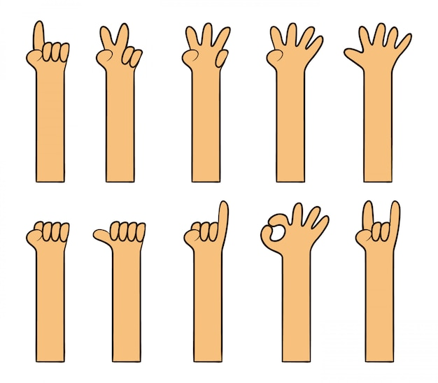 Childish simple cartoon hand Premium Vector