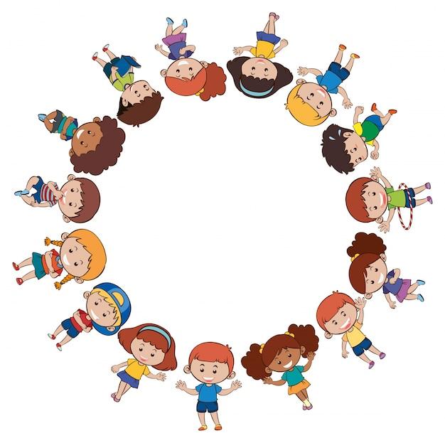 Children border vector