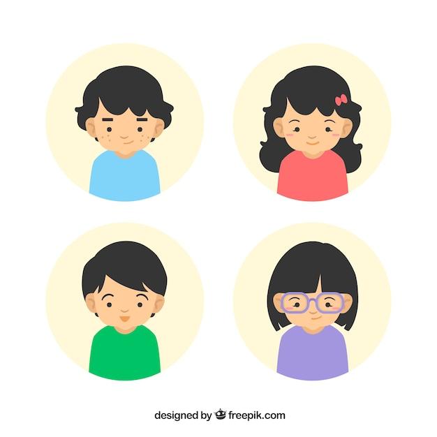 Children avatars