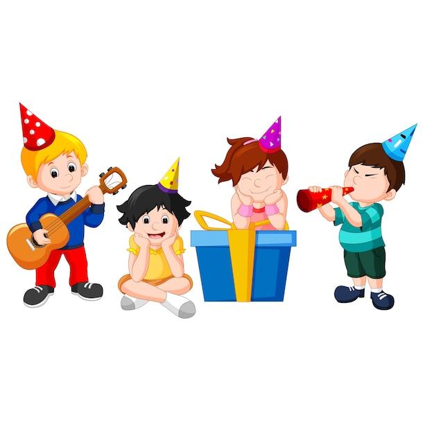 子供の誕生日パーティー Premiumベクター