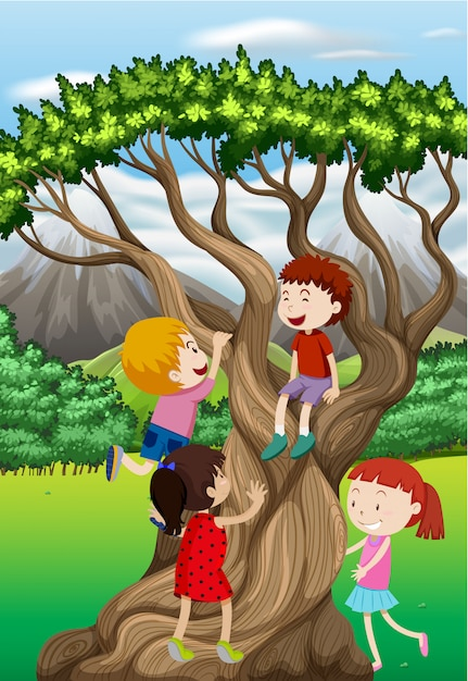 Premium Vector Children Climbing Tree In The Park It is adults failing the kids that should have us most upset. https www freepik com profile preagreement getstarted 4870175