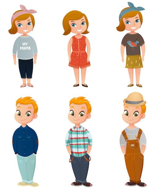 Children clothing set Free Vector