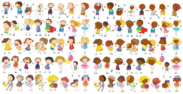 Children cultural Free Vector